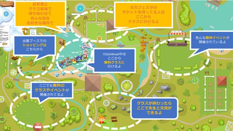 ヨガ村概略マップ
